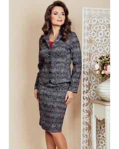 Женский костюм юбка + жакет TopDesign Premium PB6 20/PB6 21