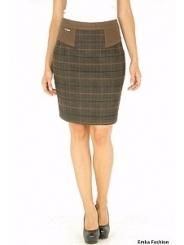 Утепленная юбка Emka Fashion   401-shirly