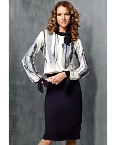 Комбинированное платье TopDesign B3 080