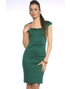 Платье-футляр насыщенного зеленого цвета | DSP-94-44t