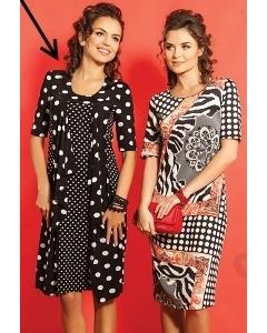 Чёрно-белое платье TopDesign A5 110