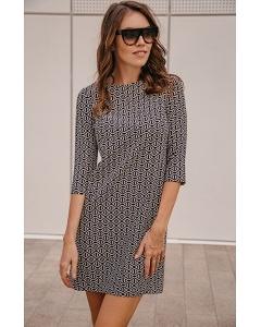 Платье с рукавом три четверти с геометрическим принтом Donna Saggia DSP-249-78