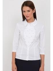 Белая блузка Emka Fashion b 2105/dulma