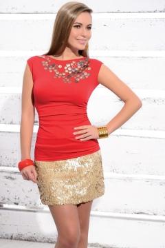 Красная блузка Zaps Akme