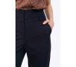 Зауженные брюки темно-синего цвета Emka D102/modesta