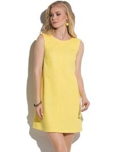 Жёлтое джинсовое платье-трапеция Donna Saggia DSP-48-47