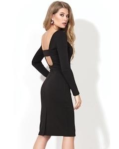 Чёрное платье с открытой спиной Donna Saggia DSP-218-4t