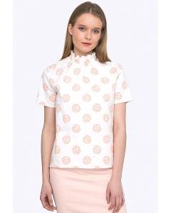 Легкая светлая блуза эстетичного фасона Emka B2237/minerva