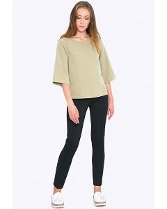 Женские брюки-скинни заужены к низу Emka D060/castor