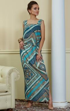 Длинное летнее платье TopDesign Premium PA4 49