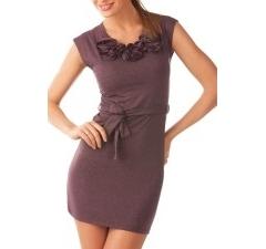 Темно-лиловое платье Golub | П136-1384