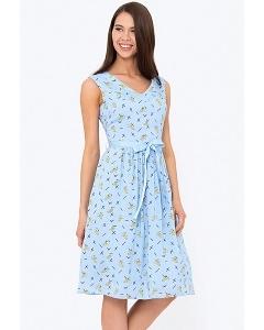 Расклешенное платье с V-образным вырезом Emka Fashion PL-672/ksilla