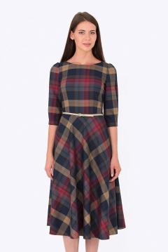 Платье в клетку Emka Fashion PL-407/monika