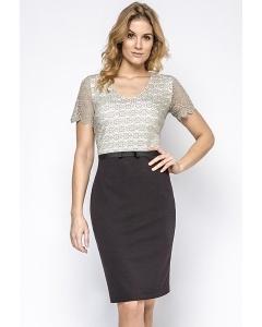 Кружевное двухцветное платье Enny 230202