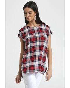 Лёгкая летняя блузка в клетку Enny 250079