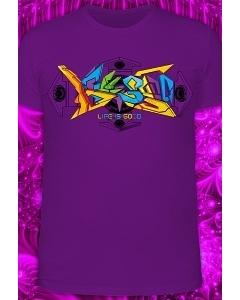 Мужская футболка 3D Graffiti (Светится в ультрафиолете)
