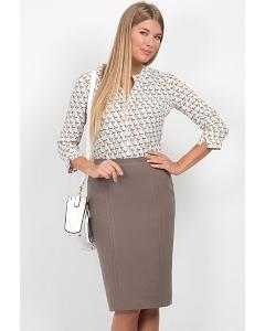 Бежевая юбка Emka Fashion 498-odella