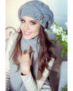 Комплект (шапка+шарф) Landre Серафима (серый)