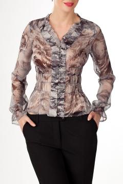 Нарядная шёлковая блуза   Б698-1207