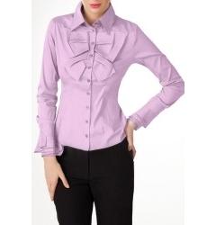 Сиреневая офисная блузка