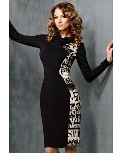 Черно-белое платье TopDesign B3 023
