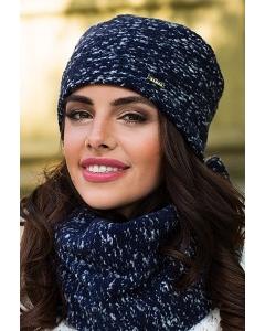 Женская трикотажная шапка синего цвета Kamea Cornelia