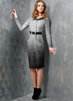 Платье с длинным рукавом TopDesign B3 012