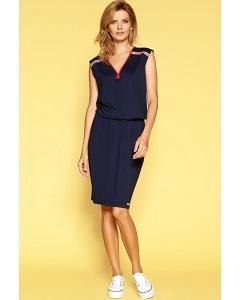 Тёмно-синее летнее платье Zaps Saga