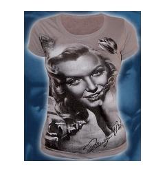 "Серая женская футболка ""Marilyn Monro"""