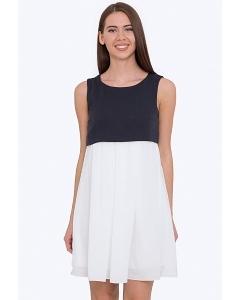 Двухцветное платье с завышенной талией Emka PL-597/kolumbina