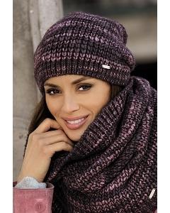 Тёмно-розовая женская шапка Kamea Reina