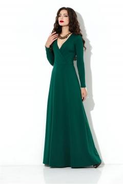 Длинное зелёное платье из трикотажа Donna Saggia DSP-206-44t