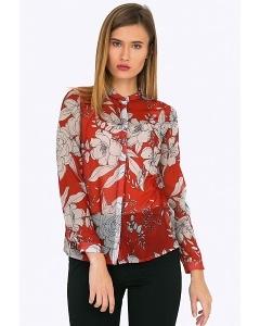 Шифоновая блузка с цветочным принтом Emka B2300/misha