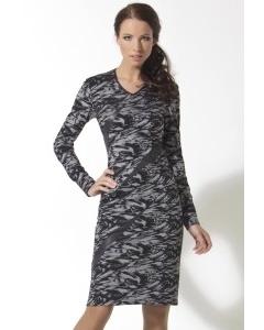 Платье с кожаными вставками | B2 113