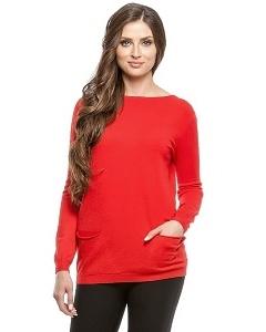 Красный джемпер с карманами Conso Wear KWJS160722