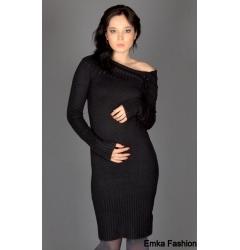 Стильное черное платье Yiky
