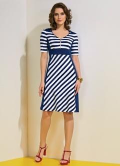 Платье в полоску TopDesign A4 075