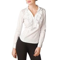 Офисна блузка с жабо Golub | Б661-724