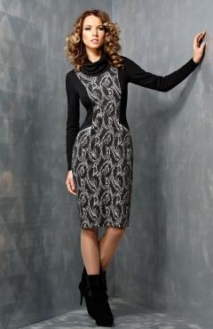 Трикотажное платье TopDesign B3 025