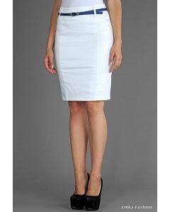 Белая юбка из 100% хлопка Emka Fashion 440-maisa