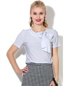 Белая трикотажная блузка Donna Saggia DSB-07-10t