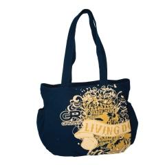 Тёмно-синяя дамская сумка Grizzly | ЛЛ-103