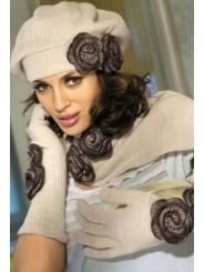 Комплект (берет+шарф+перчатки) Kamea Larissa