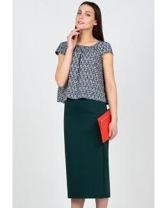 Тёмно-зеленая Юбка Emka Fashion 528-arkadiya