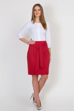 Юбка красного цвета Emka Fashion 421-valkiria