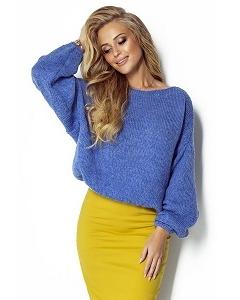 Синий короткий свитер Fimfi I299