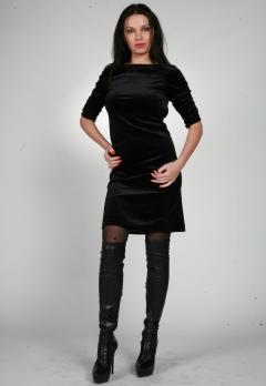 Черное платье с открытой спиной   0084