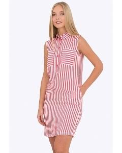 Платье-рубашка в полоску Emka Fashion PL-493/elton