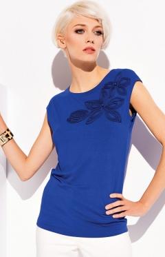 Синяя блузка Zaps Aspen (коллекция весна-лето 2015)