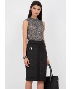 Тёплая шерстяная юбочка Emka Fashion 515-alisa